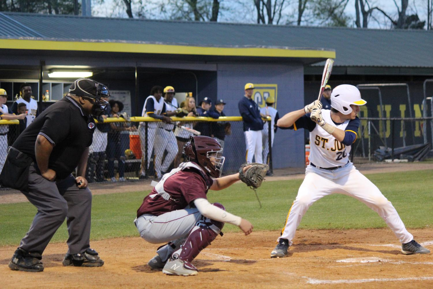 Andrew Sanli at the plate in Friday's matchup with Puckett.
