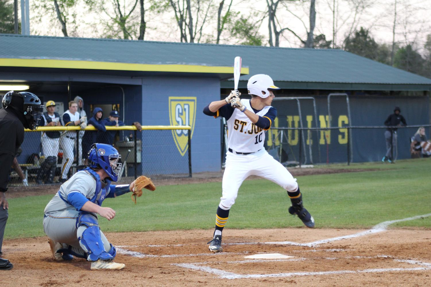 Josh Bailey at the plate against Mize last week.