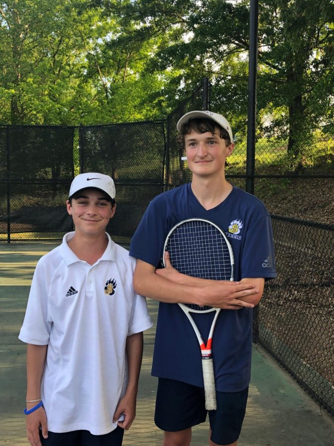 Will Mannheim (left) and Nicholas Brilley (right) defeated Clarkdale Attendance Center and advance to the semifinals.