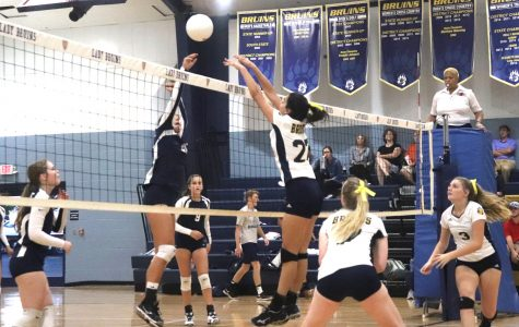 Bruin volleyball team in action during fall 208 in this file footage