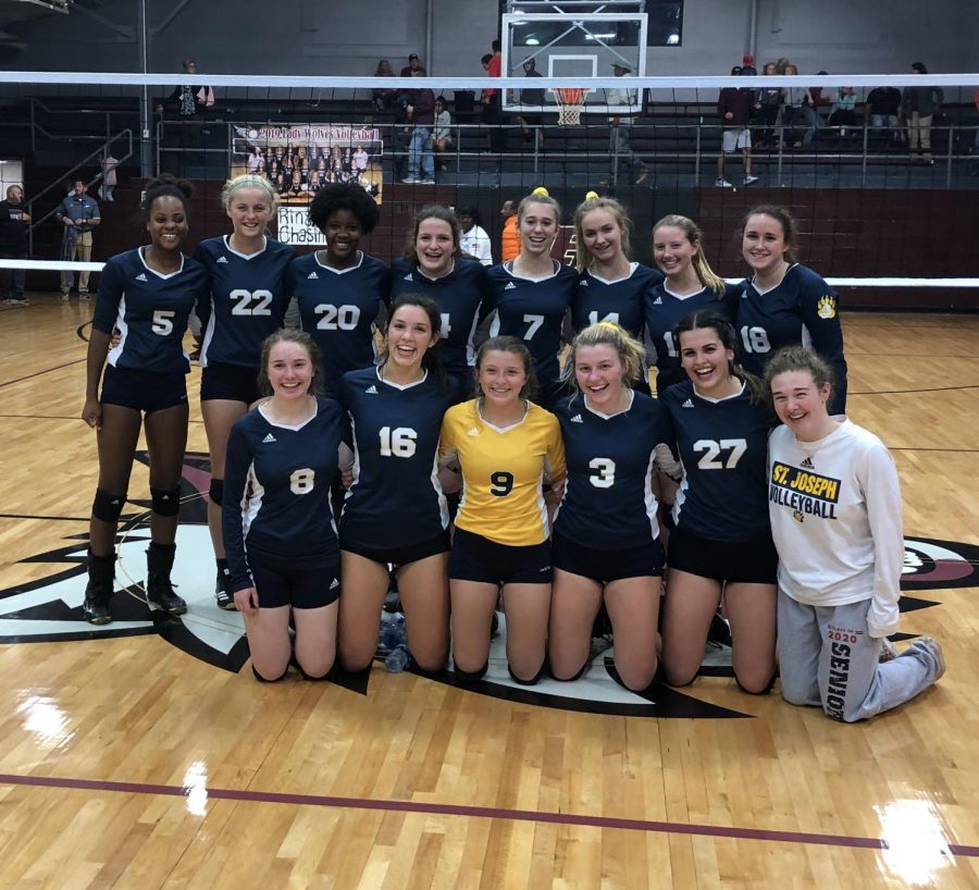 Volleyball sweeps Puckett, faces OLA Monday