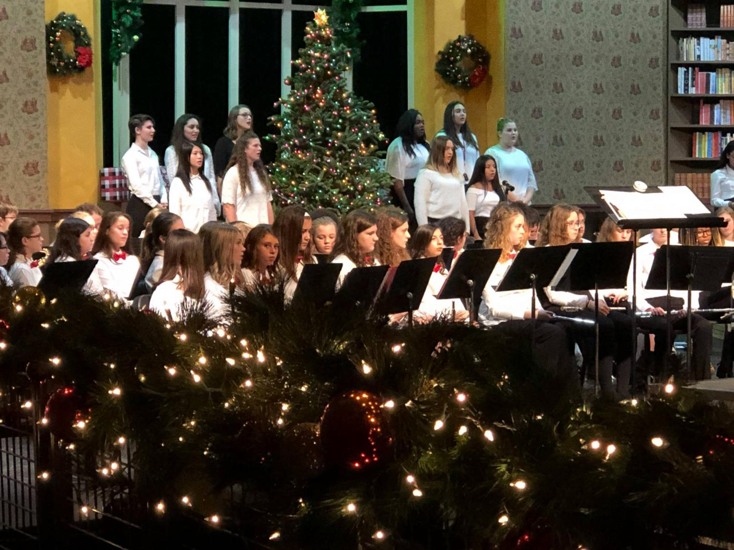 Students perform during Gifts of the Season in December 2018.