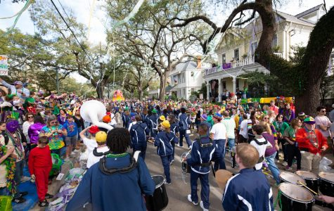 St. Joe marches in the Krewe of Thoth Mardi Gras parade.