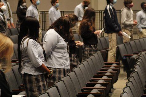 St. Joe seniors attend the first mass of the school year.