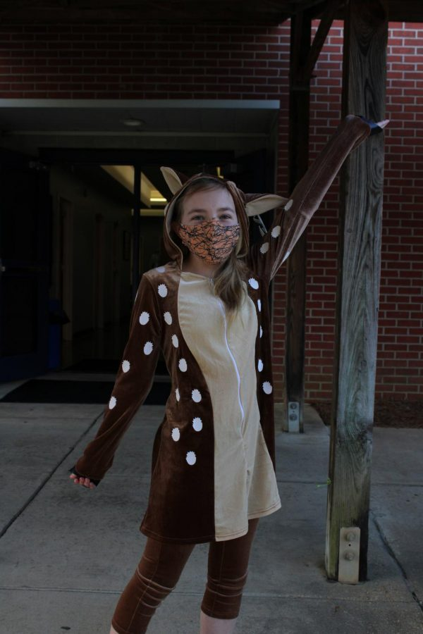 Students paid $3 to be able to wear their costumes to school.